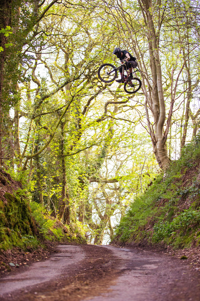 Sickest shot from the day! Ben sending a huge road gap!