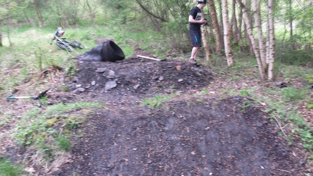 Renovating some old jumps into a dual slalom track and found a couple of these in the landings, whats wrong with dirt for gods sake?! Huge rolls of carpet do not make solid landings