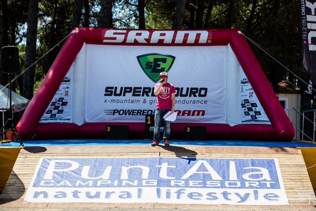 You know you're at a real enduro race when the only thing you hear for miles around is Enrico Guala's excitement on the microphone. It means its time to go racing.