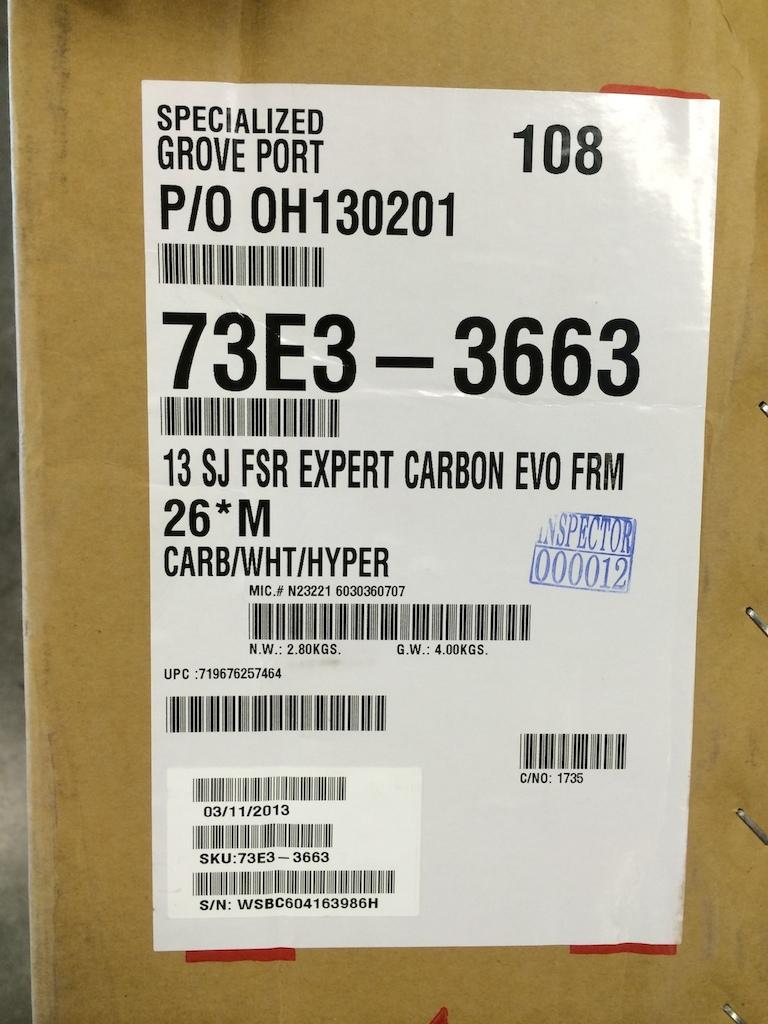 2013 Stumpjumper EVO Carbon 26 M + Command Post IR Brand New In B