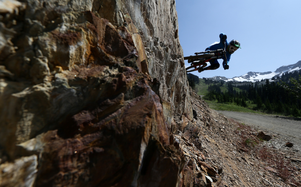 Mountain bike rider Paul Stevens is seen riding on Whistler mountain in Whistler B.C. Saturday August 11 2012. THE CANADIAN PRESS Jonathan Hayward