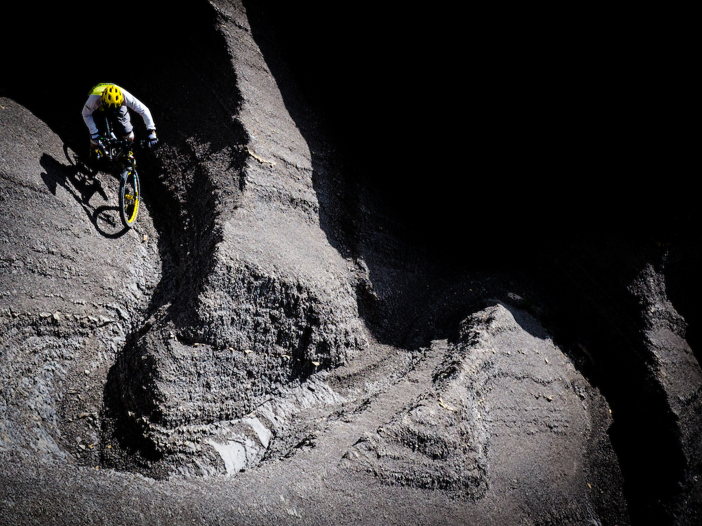 "Mavic yellow is just so enduro isn't it! Riding the fantastic Orbea Rallon in the badlands of Zona Zero in the Pyrenees during our ""Backcountry Pyrenees"" tour in 2014. 