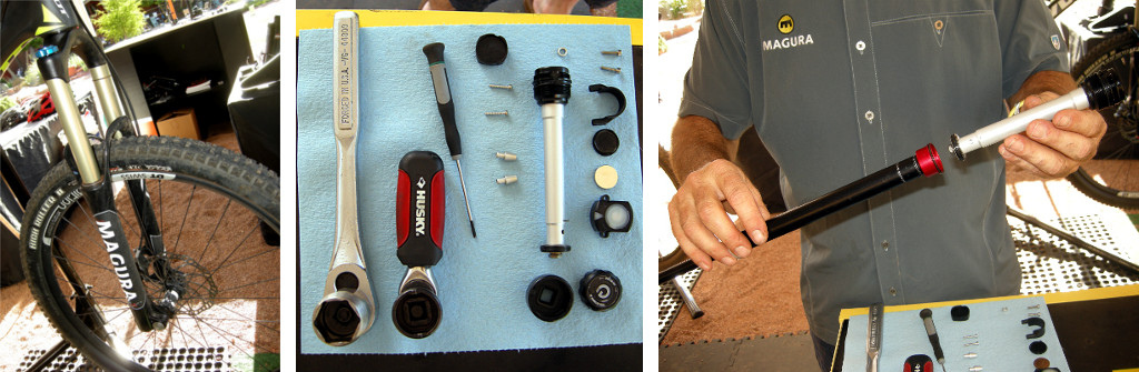 how to install the Magura eLECT damper in a Magura MT8 fork 2014