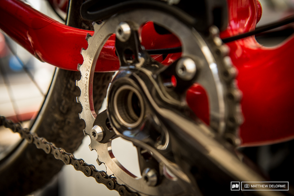 Only three of the New XTR 9000 groups with prototype chainrings are racing this weekend. That s all. Test Pilots include Trek Factory Racing s Dan McConnell BMC s Julien Absalon and Giant s Fabien Giger.