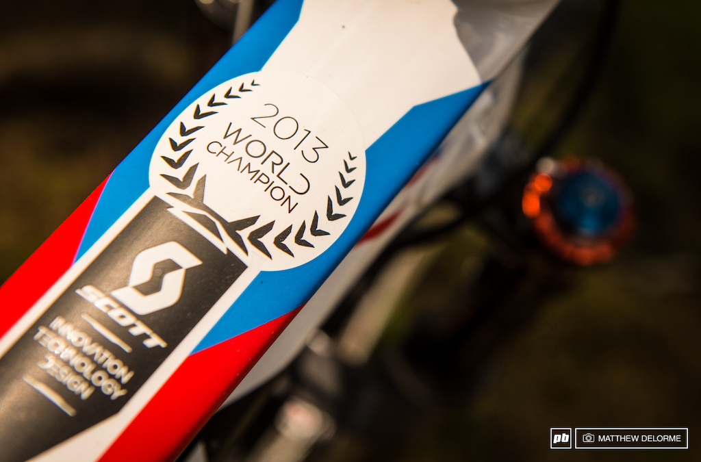 Just in case Nino needs a reminder it s there on his top tube.
