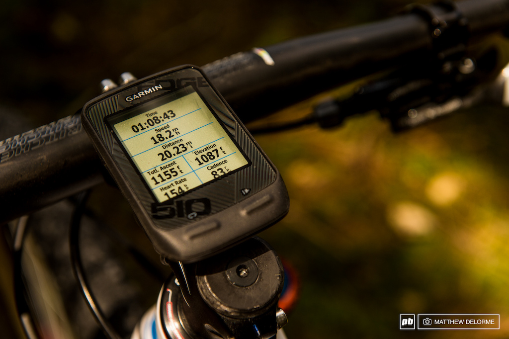 Schurter keeps track of all his training stats with a Garmin Edge 510