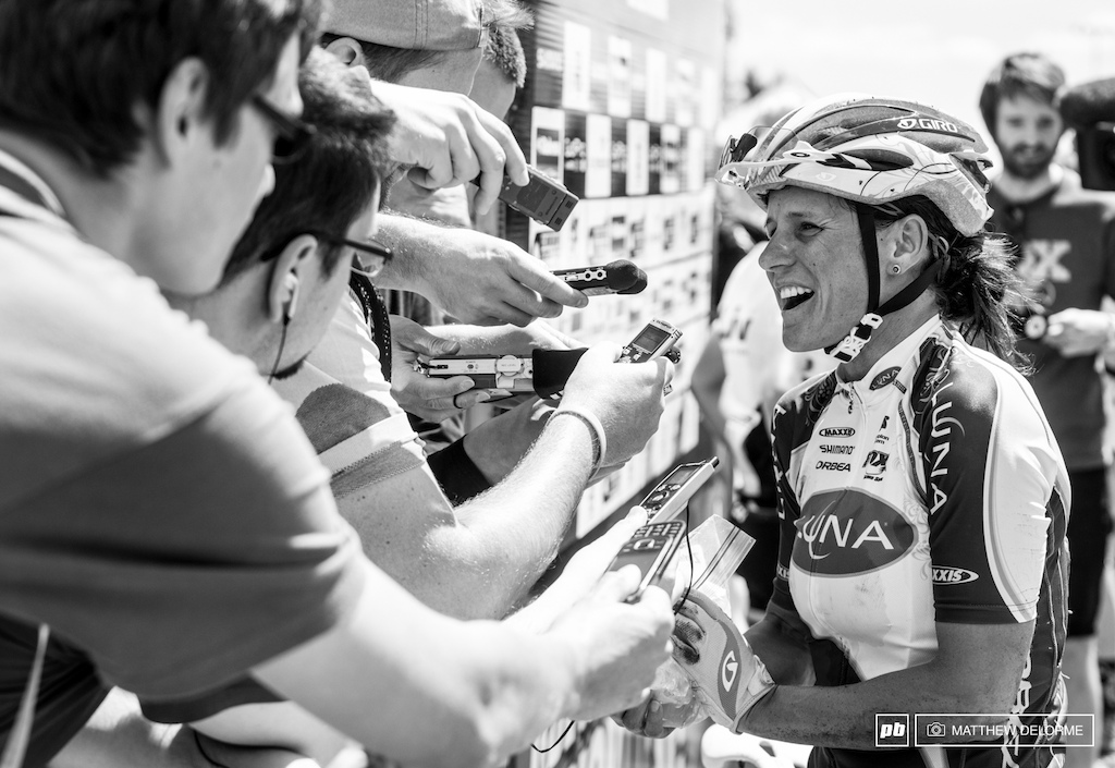 Luck wasn t with Katarina Nash today. She had a minor crash and finished fifteenth. Nonetheless she was all smiles for the home press core after the race.