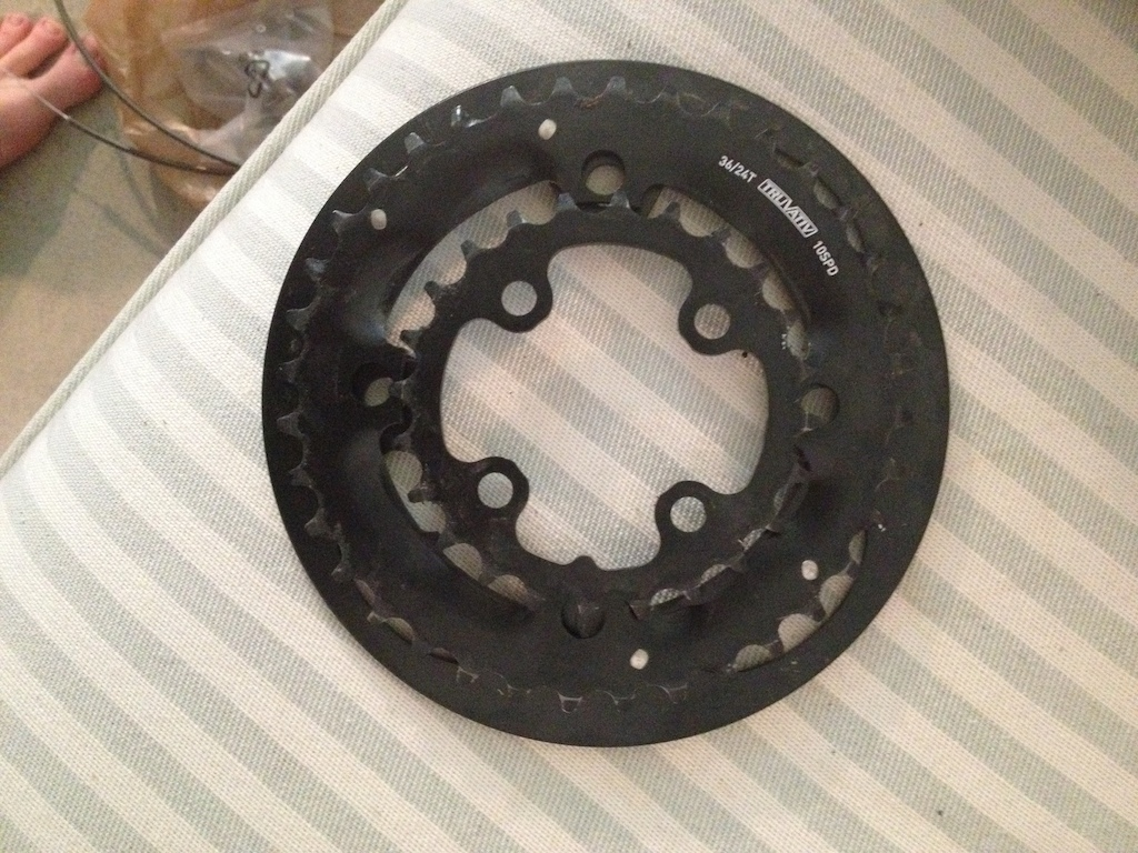 Truvative 36/24 Tooth 10 speed front chainrings with bashguard