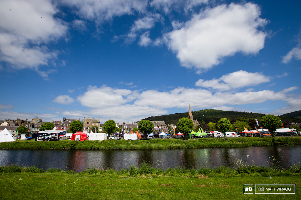 The after shot from yesterdays photo of Peebles green. It s certainly a lot less tranquil than it looked at the start of the week