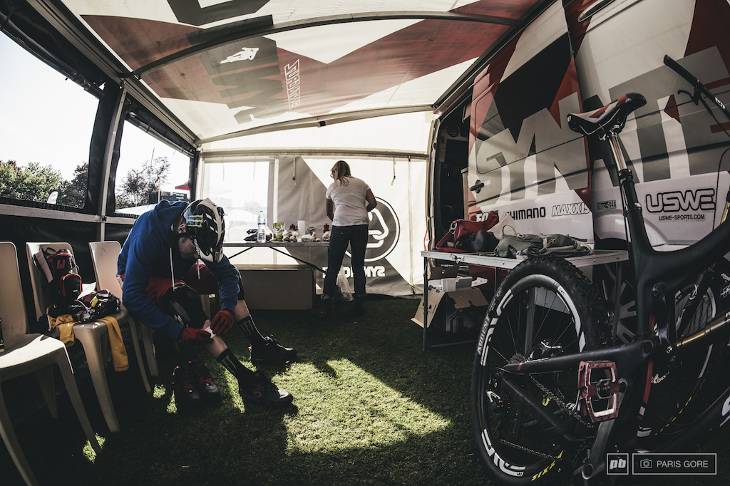 Steve Peat bandaging up the battle wounds from the rough and unforgiving Scottish terrain.