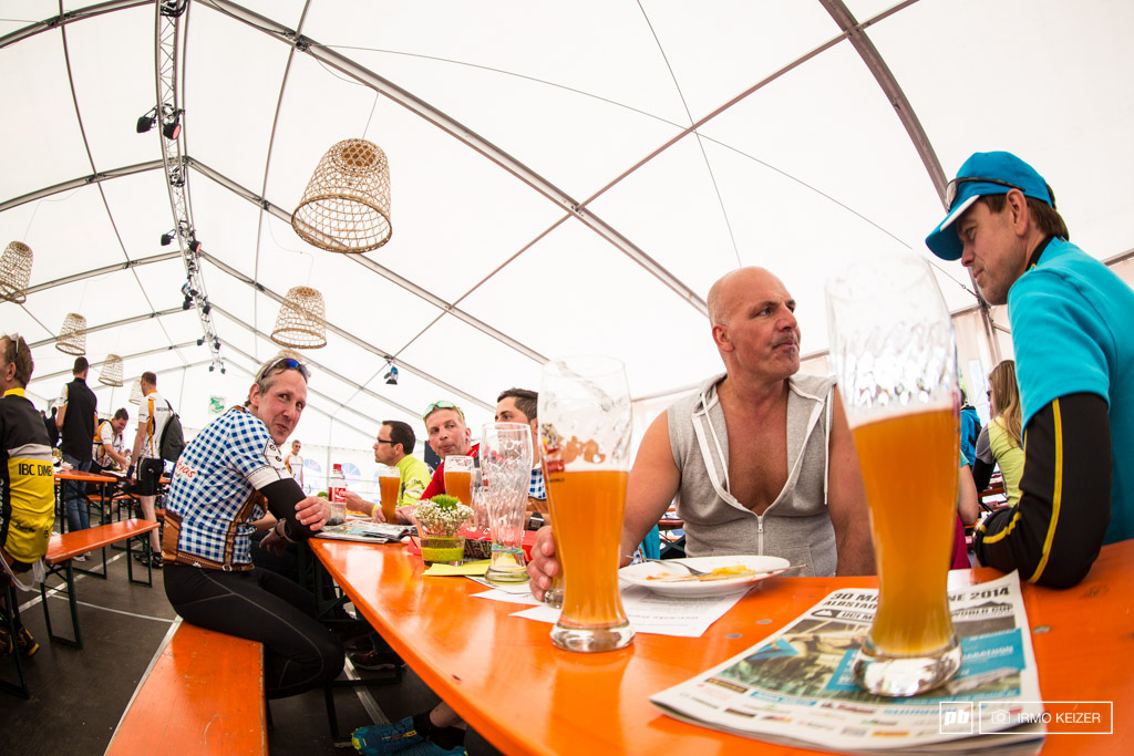 Did we say beer Beer Completely oblivious to the race going on right behind their backs these guys taste some of Germany s finest brews.