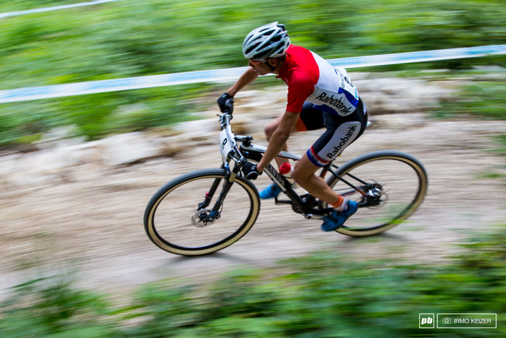 The Dutch might not have any mountains Milan Vader proves they do have young talent in mountain biking.