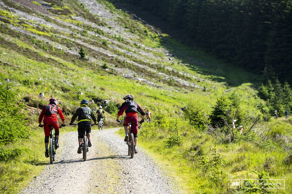 This is what enduro is all about--racing hard but then riding with your buddies. Can t we just call it mountain biking Oh. RIght. This is a race. Forgot. Sort of.