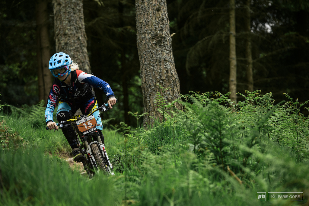 Tracy Hannah s DH roots kept her in the game for racing on the steep bits but surely wasn t prepared for all the climbing.