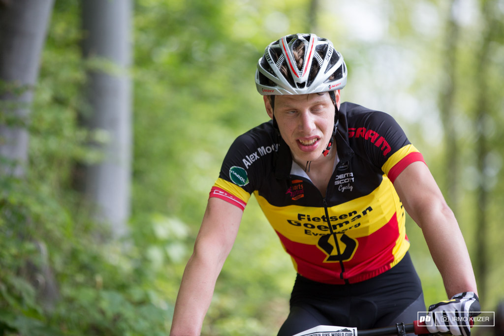 Yes riders suffer on this course. Big time. Bart de Vogt of Belgium gave it all.