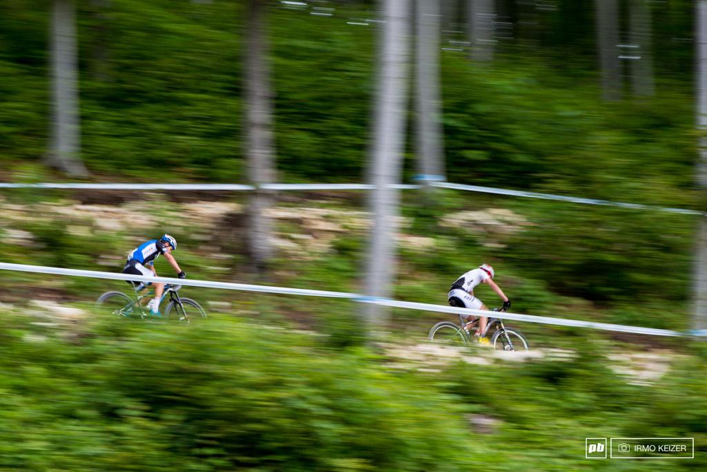 Michiel van der Heijden chases an unleashed Jordan Sarrou.