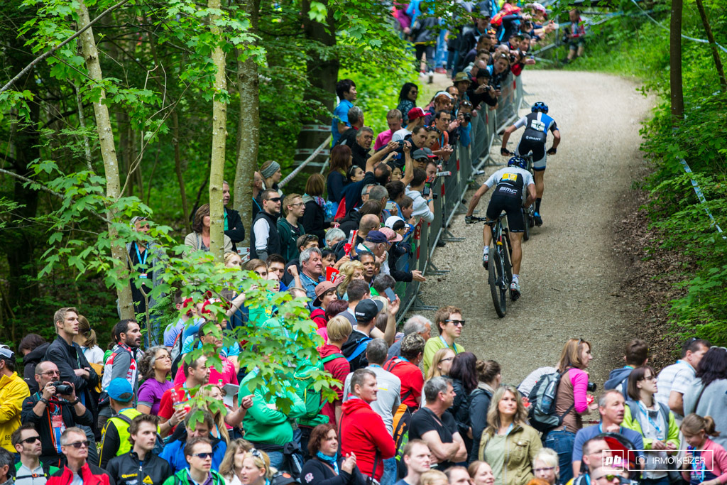 No more Schurter as Giger and Absalon pull away.