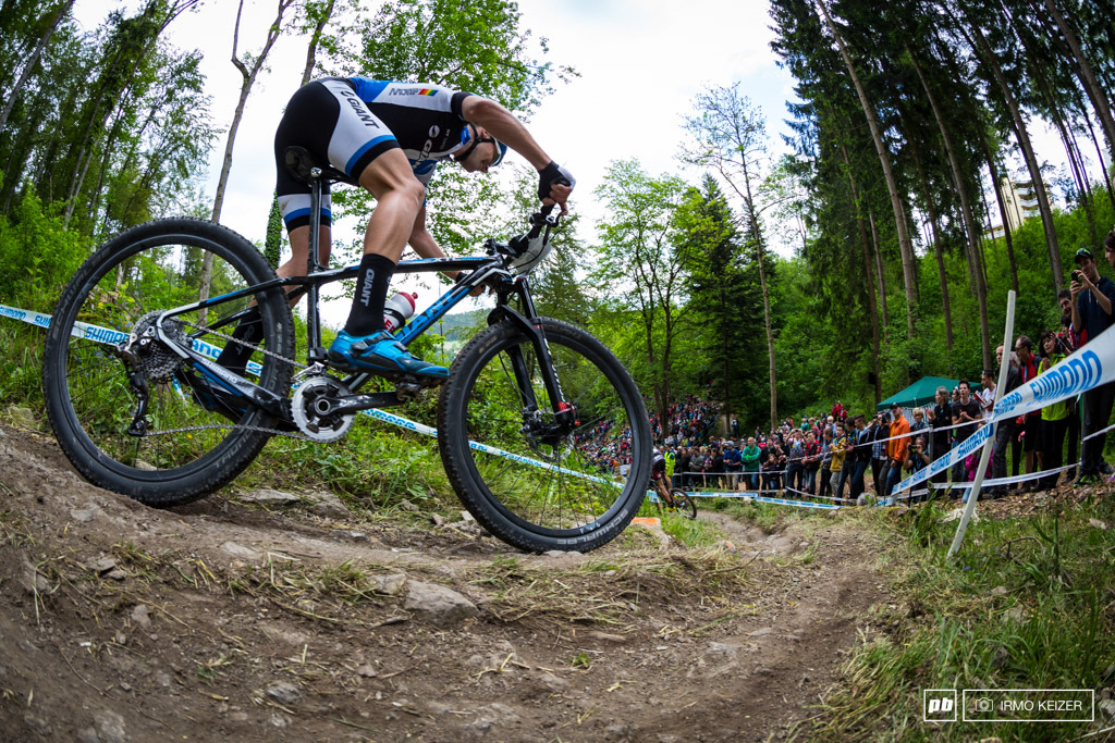 Giger is one of few riders in the men s field opting to ride a 2x setup. He made it work.