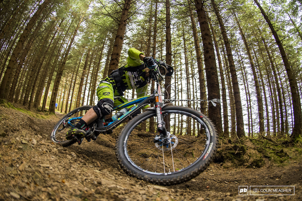 Cecile Ravanel has worked hard to bring up her XC racing game to Enduro form and the race format appears to suit her well as she seized third today ahead of former 4X star and two time 4X World Champ Anneke Beerten.