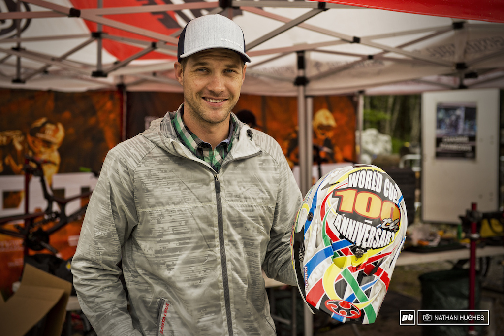 3 World Champ titles 16 World Cup wins 61 podiums and a partridge in a pear tree. Greg Minnaar is 100.