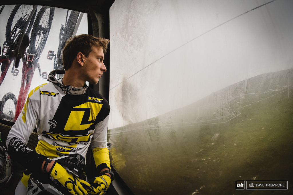 GT s Enduro phenom Martin Mae s has never been to Fort William before. It was a mix of enthusiasm and nerves on the gondola ride for his first ever run on this classic of a track.