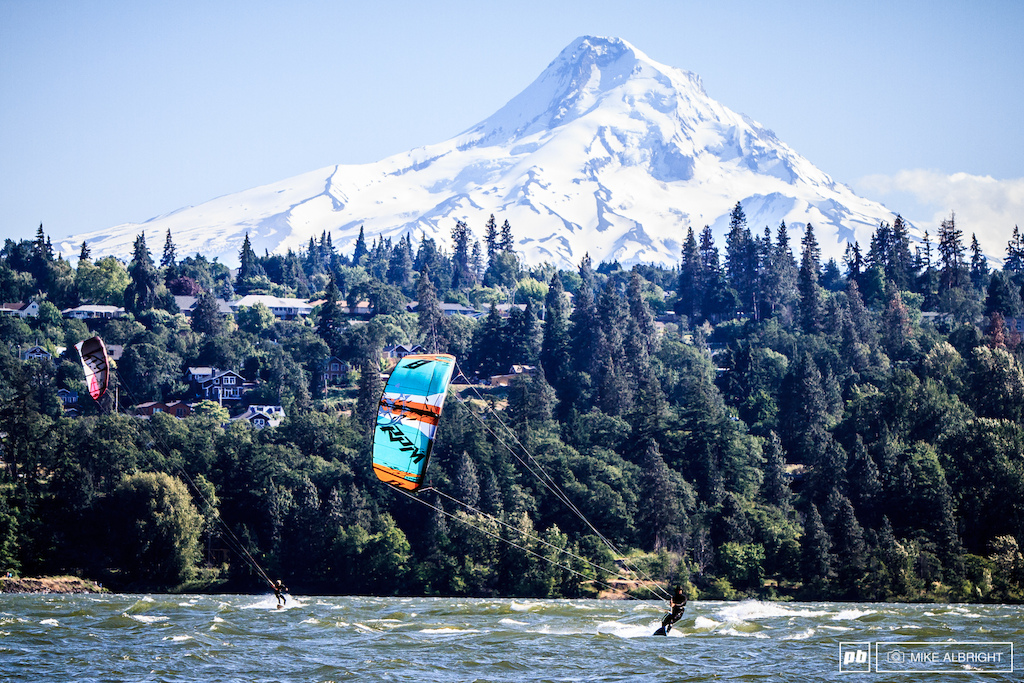 Hood River Oregon has a lot to offer a great trail network world-class windsurfing and sailboarding close to ski resorts wineries and the home of Full Sail Brewing and DaKine. And as Rachel Throop put it Hood River has the same vibe at Santa Cruz .