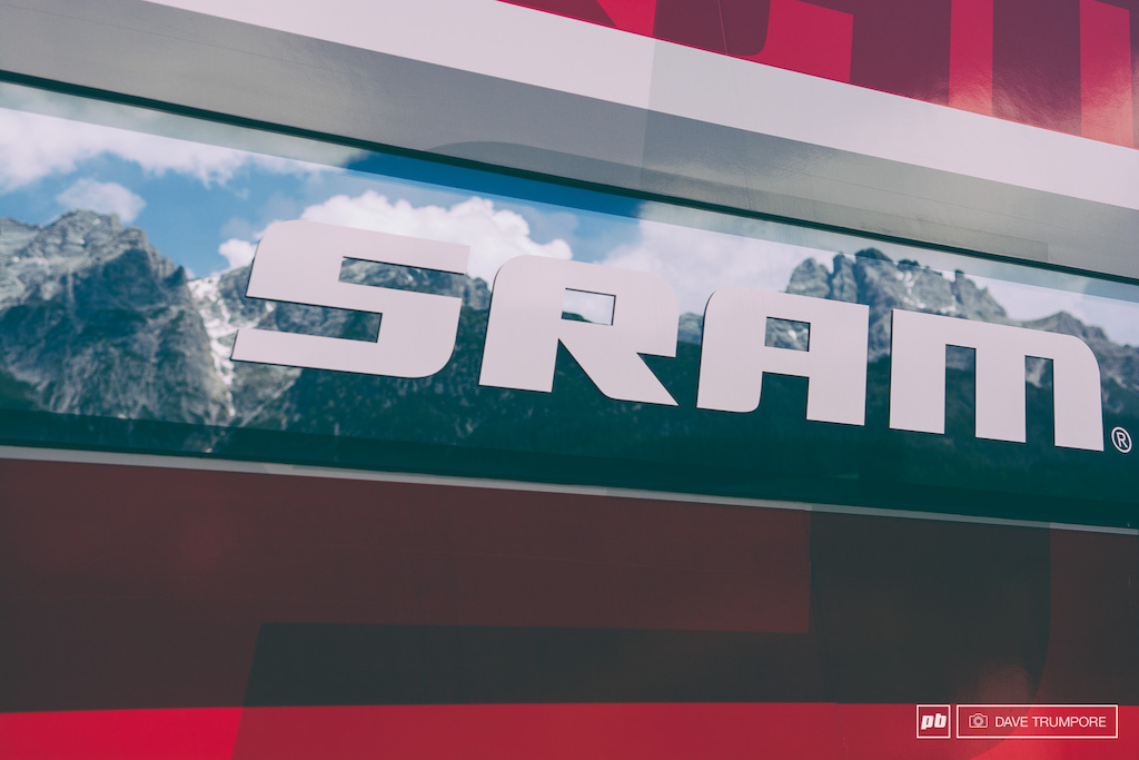 I reckon SRAM has the best view in all of the pits from the inside of their massive support truck.