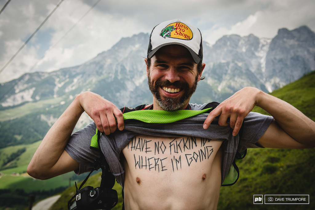This is Boris. He will be at the race and no track walk is complete without getting him to show you some of his body art . Don t worry he s more than willing.