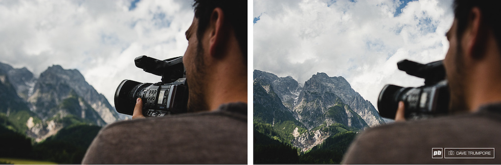 If the venue is in an epic mountain setting be sure to capture plenty of footage to show your friends back home.