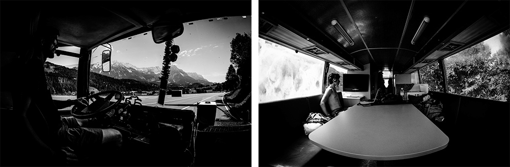 12 hour ferry ride and 20 hours of driving later we made it to Leogang The Mondraker rockstar mobile rolling strong with Christian Schandl at the helm.