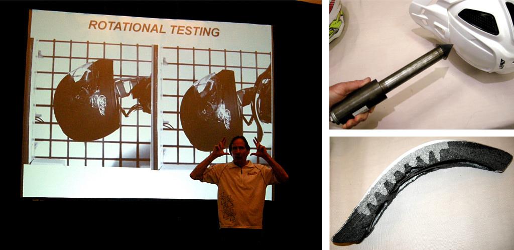 Leatt CPX and DBX helmet impact testing 2015