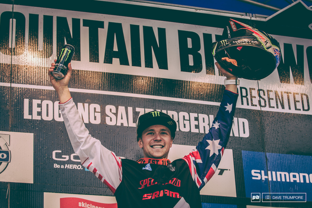 What an exciting two weekends it s been for Troy Brosnan. First his first World Cup win and now he stands atop the podium as the new series leader.