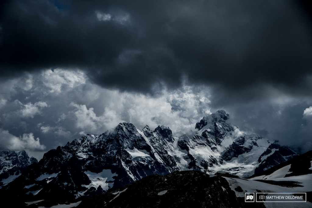 The view from the top of the Col Du Galibier. There are few times in my life when I am found utterly speechless, but upon reaching the top of the Col, I was without words.  The worst of the weather seems to have pushed off and it's looking like we might have some fantastic weather for racing this weekend.