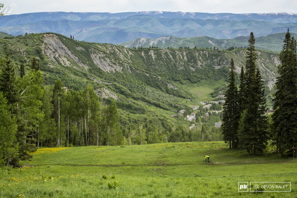No shortage of great views here in Snowmass.