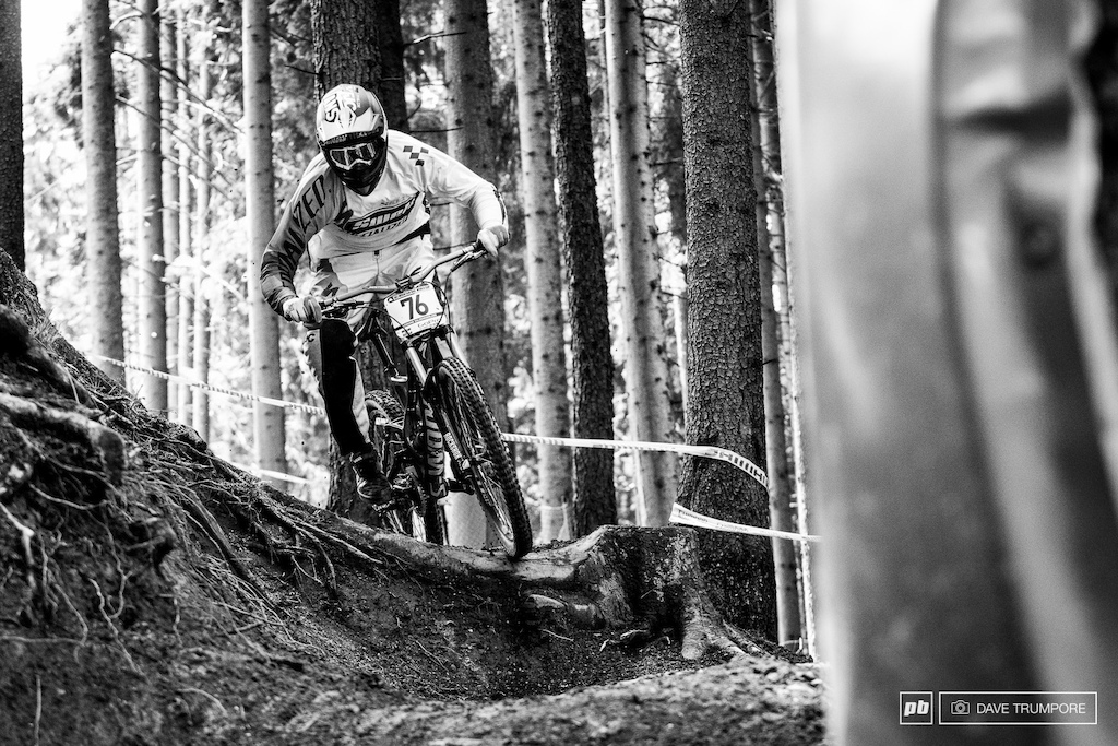 Dave McMillan in action at Leogang.