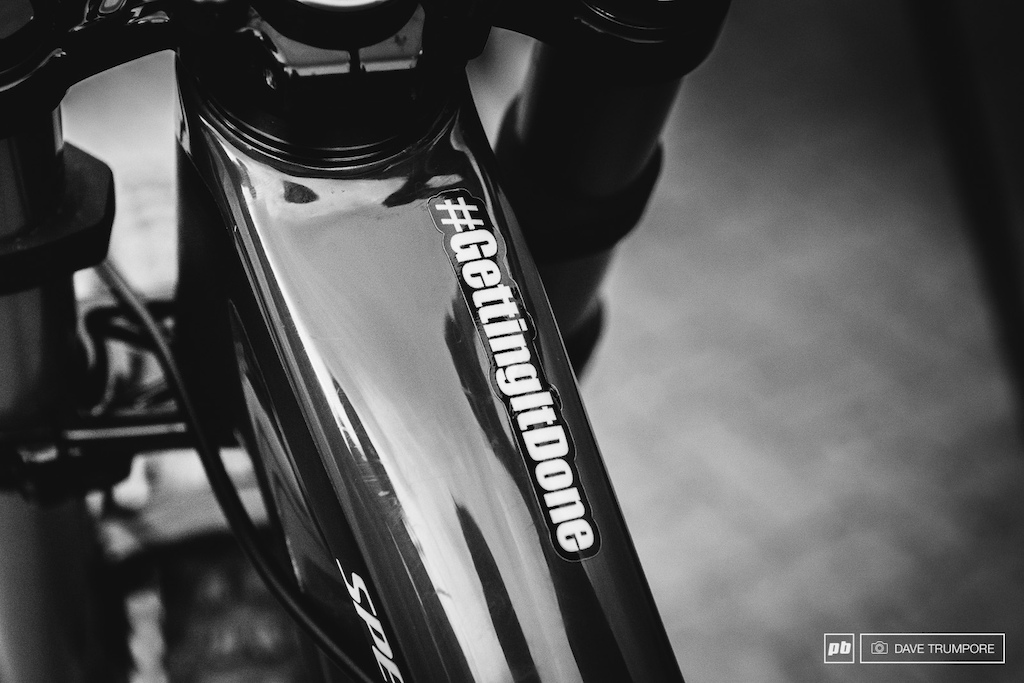 If ever there was a theme to privateer life on the World Cup this is it written on the top tube of Dave McMillan s Specialized.
