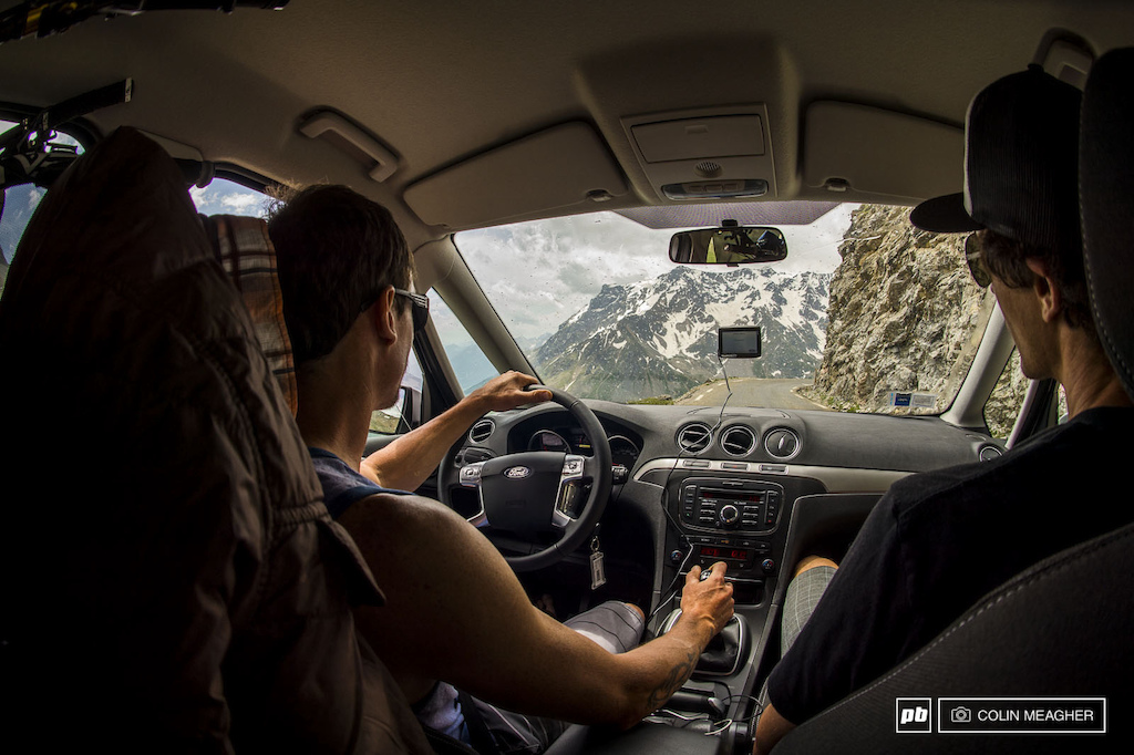 When selecting a European rental vehicle it s important to balance cargo capacity economy and handling. Lars Ford Galaxy six-speed was absolutely dialed for a casual Monday drive over the Col du Galibier from Savoie south through the Alpes du Haute Provence. -Adam Craig