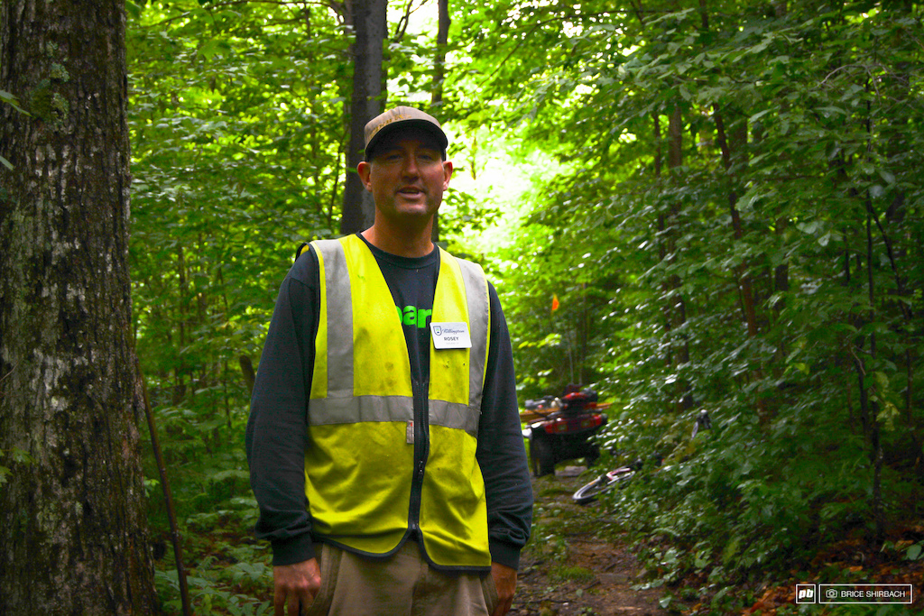 Rosey is the man in charge of the trails here.  He's done quite well indeed.