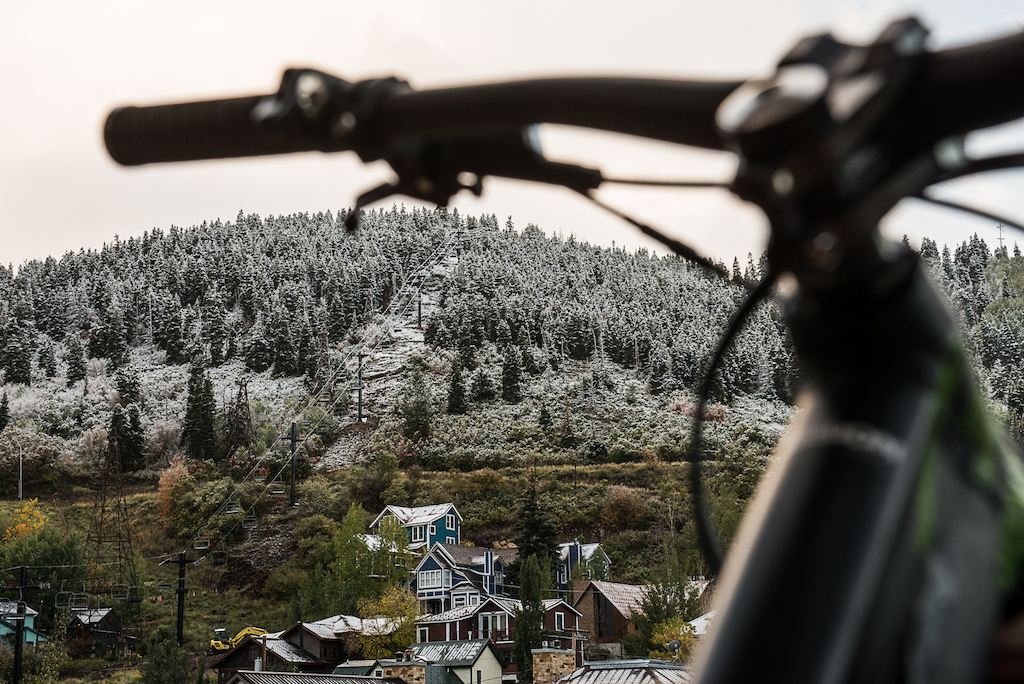 We woke to snow frosted trees on the first day of our trip to park City at the end of September.