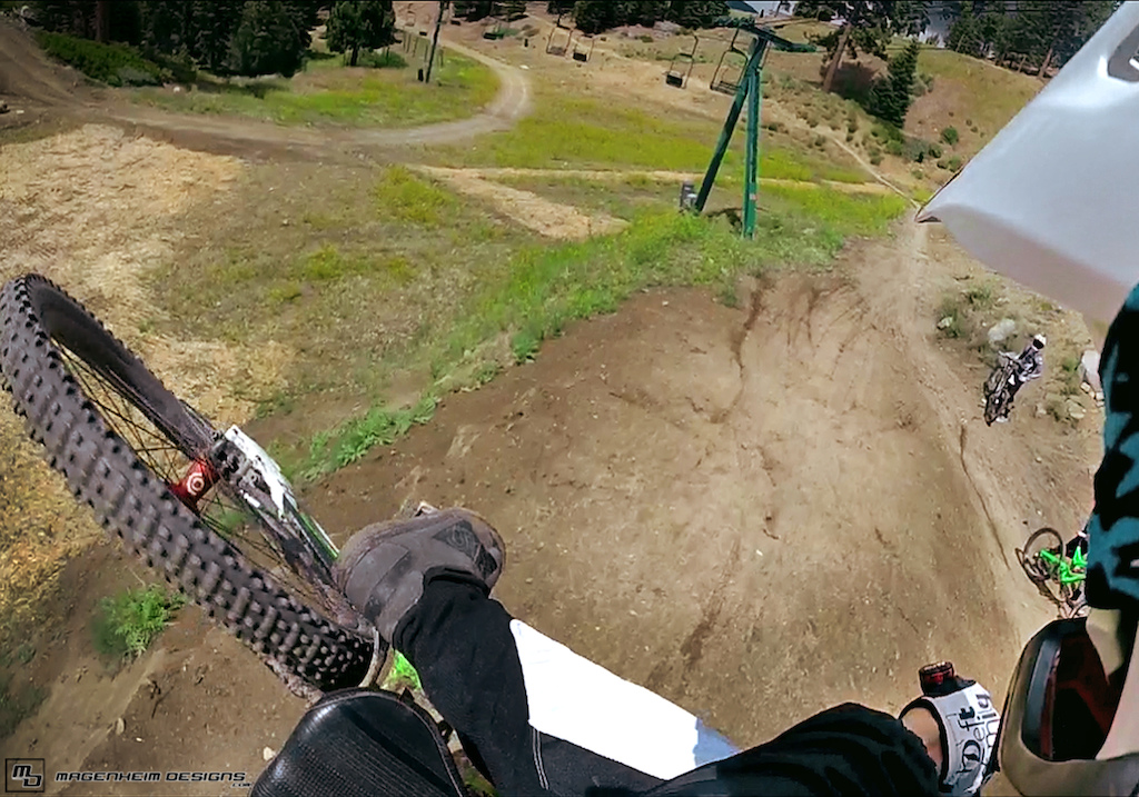 Sweet shot from my gopro this weekend at summit! Past 90!