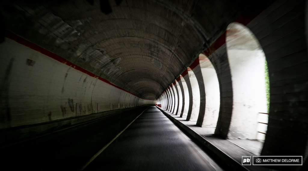 Weaving through the myriad alpine tunnels that snake through the mountain passes as we travel from Geneva to La Thuille.