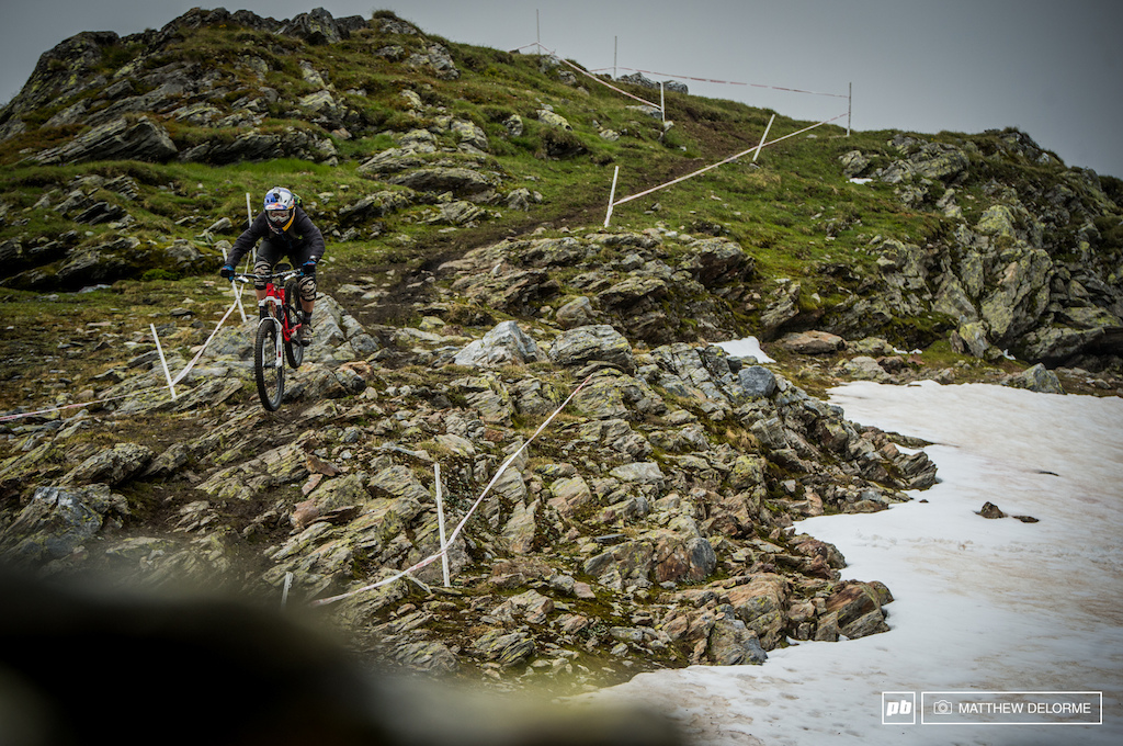 Rene Wildhaber has got a little momentum behind him. With a win last weekend and a podium in Valloire, he surely has what it takes to finish with a top result here in La thuille.
