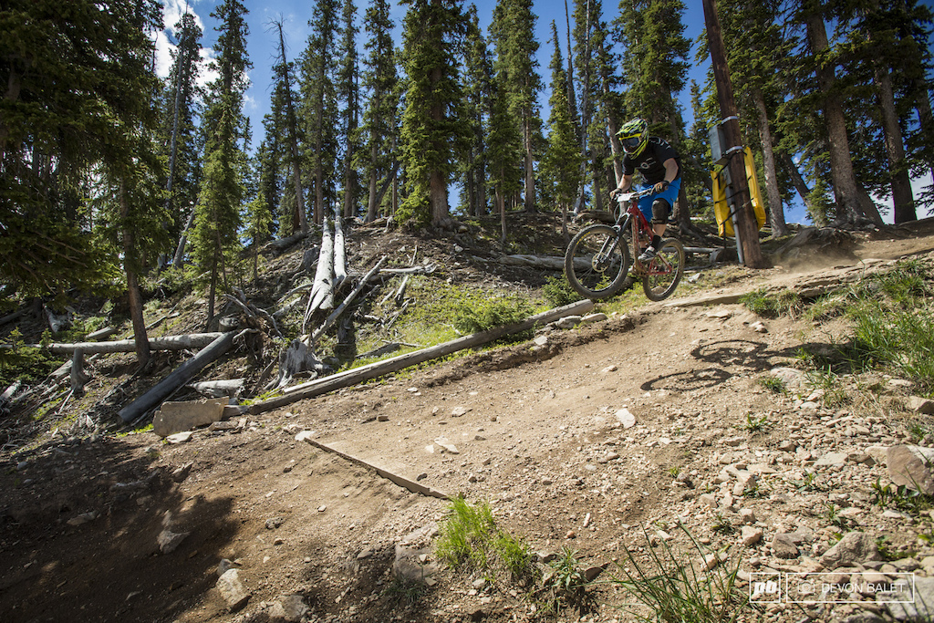 Trevor Martin of Telluride Colorado finds the smooth line into the start of stage two.