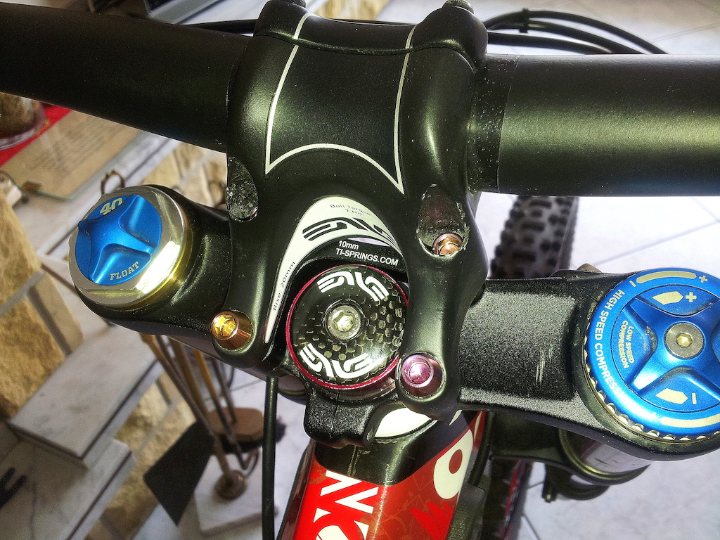 TI-SPRINGS.COM direct mount stem spacer 10MM + rainbow Ti bolts
