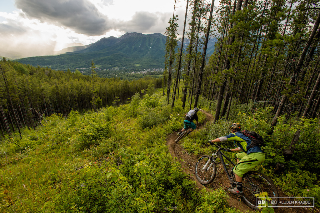 pedaling in Fernie BC