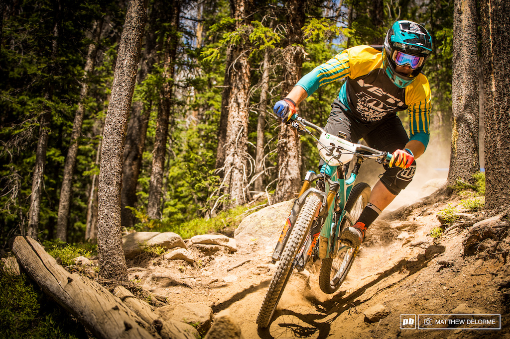 Richie Rude fears no rocks. The Yeti young gun had a stellar day in Winter Park taking the win on both stages one and two. The extra week in Colorado has helped him cope with the elevation.