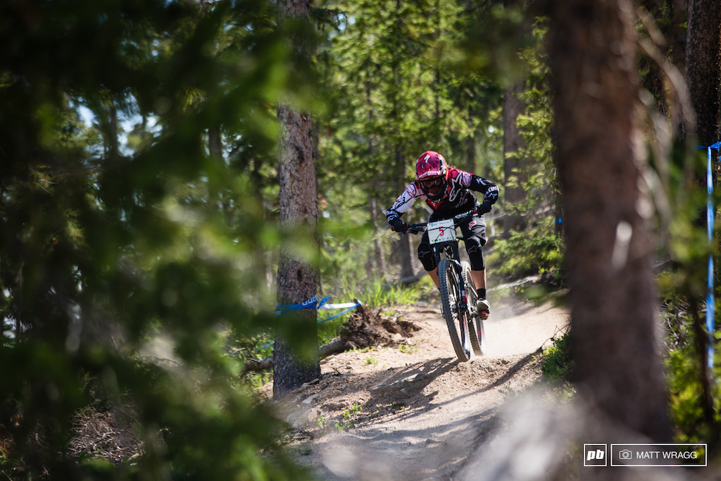 Today was a big day for Anneke Beerten with her first ever stage win at an EWS. She was smiling ear to ear at lunchtime and finsihed the day sitting in second just 3 seconds behind with plenty of racing yet to go.