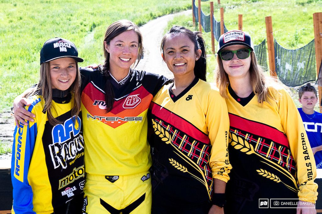 This ladies were the only four women to race the Western Open course and provincials Kyleigh Stewart Danice Uyesugi Darlene Paranaque Angie Lowen.