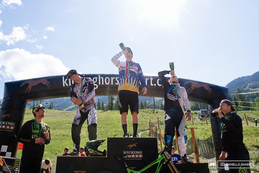 The Elite Men s podium.