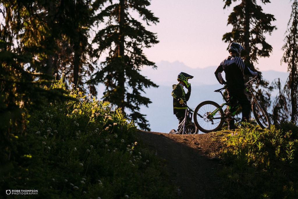 Silver Star bike park images.